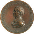 Political:Inaugural (1789-present), James Knox Polk Inaugural Medal, 61mm diameter, bronzed copper,U.S. Mint, 1845. The dated obverse depicts a left-facing, dr...