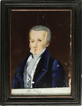 Antiques:Folk Art, Henry Clay Reverse Painting on Glass,...