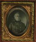 Photography:Daguerreotypes, Rare Political Zachary Taylor Daguerreotype from the 1848 Election Campaign These small daguerreotypes issued for the prom...