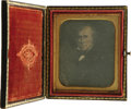 Political:Miscellaneous Political, Zachary Taylor: A Very Rare Daguerreotype of a Painted Portrait inMilitary Uniform. Our research has failed to turn up eith...