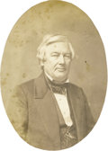 Photography:Studio Portraits, Salt Print of Millard Fillmore. This salt print of Millard Fillmore (1800-1874) is believed to be by the Whitehurst Gallery ...