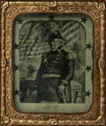 Photography:Ambrotypes, Winfield Scott: A Fabulous Patriotic 1/9th Plate Ambrotype Winfield Scott is probably one of the least appreciated American ...