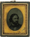 Photography:Ambrotypes, An Attractive John C. Fremont Ambrotype in One of His Most Familiar Poses This is a photograph of an engraving, an image emp...