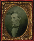 Political:Miscellaneous Political, Abraham Lincoln: An Outstanding Ruby Ambrotype Portrait From an1860 Campaign Photograph. This photo was taken by Alexander ...