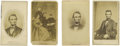 Photography:CDVs, Four Abraham Lincoln Cartes de Visite. Included are the following: a wonderful lifetime image showing a robust and smili... (Total: 4 )