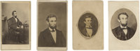 Four Views of Abraham Lincoln - Cartes de Visite. 1) The first of four excellent varieties of Lincoln photographs is a v...