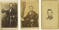 Photography:CDVs, Six Views of Abraham Lincoln - Cartes de Visite. This lotcontains six different views of great President Lincoln. 1) A ...(Total: 6 )