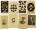 Photography:CDVs, Sixteen Varying Abraham Lincoln Cartes de Visite. This lot contains sixteen CDVs, fifteen of which are engravings from o... (Total: 16 )