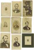 Photography:CDVs, Abraham Lincoln: Group Lot of 23 Cartes De Visite. Includes nine different photographic portraits, the most being the fa... (Total: 23 )