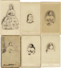 Photography:CDVs, Mary Todd Lincoln: A Fine Collection Of 13 Cartes De Visite Images. Some quite unusual varieties are included in thi...