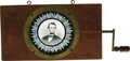 Political:Miscellaneous Political, Abraham Lincoln: A T.H. McAllister Chromotrope. A companion pieceto the adjoining Grant lot, it functions similarly and dat...