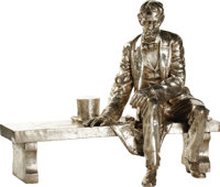 Abraham Lincoln: An Astonishing, Monumental Sculpture, Cast In .999 Fine Silver, After The Original By Mount Rushmore Sc...