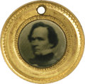 Political:Ferrotypes / Photo Badges (pre-1896), Rare Tiny John C. Breckinridge - Joseph Lane Ferrotype from 1860Not to be confused with the more familiar tiny 1860 ferros,...