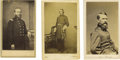 Photography:CDVs, Officers Blair, Wilson, and Garfield Cartes de Visite. This lot includes three exquisite CDVs of Union officers: Francis... (Total: 3 items)