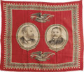 "Political:Textile Display (pre-1896), Garfield & Arthur: 1880 Campaign Bandanna. Approximately 22"" x21"" campaign bandanna with jugate pictures of James A. Garfie..."