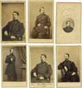 Photography:CDVs, Six General Winfield Scott Hancock Cartes de Visite. General Hancock was a distinguished Union General. Sitting on his h... (Total: 6 items)