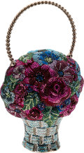 Luxury Accessories:Bags, Judith Leiber Colorful Flower Basket Full Bead Minaudiere Evening Bag. ...