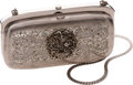 Luxury Accessories:Bags, Judith Leiber Rare Early Silver Jeweled Clutch. ...