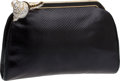 Luxury Accessories:Bags, Judith Leiber Black Lizard Evening Bag with Jeweled Shell ClaspClosure. ...