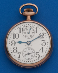 Elgin 21 Jewel 16 Size Father Time Up/Down Indicator