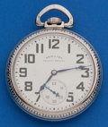 Timepieces:Pocket (post 1900), Hamilton 17 Jewel Grade 974. ...