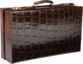 Luxury Accessories:Travel/Trunks, Brown Crocodile Suitcase, Owned by Diana Vreeland, Initialed. ...