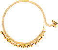 Luxury Accessories:Accessories, Judith Leiber Gold and Jeweled Collector's Belt. ...