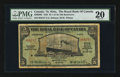 Canadian Currency: , Basseterre, St. Kitts- The Royal Bank of Canada $5 January 3, 1938Ch # 630-60-02. ...