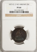 Proof Seated Quarters, 1873 25C No Arrows PR64 NGC....