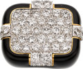 Estate Jewelry:Rings, Diamond, Enamel, Platinum, Gold Ring, David Webb. ...