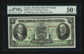 Canadian Currency: , Montreal, PQ- The Royal Bank of Canada $5 July 3, 1933 Ch # 630-16-02. ...