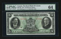 Canadian Currency: , Montreal, PQ- The Royal Bank of Canada $5 Jan. 3, 1927 Ch # 630-14-02. ...