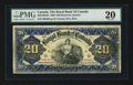 Canadian Currency: , Montreal, PQ- The Royal Bank of Canada $20 Jan. 2, 1909 Ch # 630-10-04-22. ...