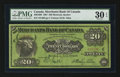 Canadian Currency: , Montreal, PQ- Merchants Bank of Canada $20 June 1, 1907 Ch # 460-16-06. ...