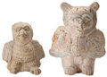 Antiques:Antiquities, A Lot of Two Maya Bird/Men... (Total: 2 Items)