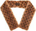 Luxury Accessories:Accessories, Louis Vuitton Extremely Rare Vison Monogramme Double-Sided Mink Scarf, 2004 Les Extraordinaires Collection. ...