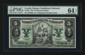 Canadian Currency: , Montreal, PQ- Banque Canadienne Nationale $5 Feb. 1, 1925 Ch #85-10-02. ...