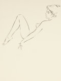 Pin-up and Glamour Art, FRITZ WILLIS (American, 1907-1979). Sketch of a Lady. Pencilon tracing paper. 13.25 x 9.5 in.. Not signed. From the...