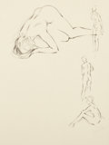 Pin-up and Glamour Art, FRITZ WILLIS (American, 1907-1979). Four nude sketches.Pencil on tracing paper. 13 x 10.5 in.. Not signed. Fromthe...