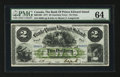Canadian Currency: , Charlotte Town, PEI- The Bank of Prince Edward Island $2 Jan. 1,1877 Ch # 600-12-08. ...