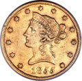 Liberty Eagles, 1855-S $10 XF45 PCGS. CAC....