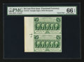 Fractional Currency:First Issue, Fr. 1312 50¢ First Issue Uncut Vertical Pair PMG Gem Uncirculated66 EPQ.. ...