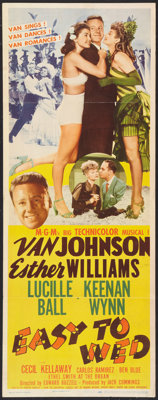 "Easy To Wed (MGM, 1946). Insert (14"" X 36""). Musical"