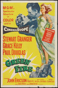 "Movie Posters:Adventure, Green Fire (MGM, 1954). One Sheet (27"" X 41""). Adventure.. ..."