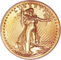 High Relief Double Eagles, 1907 $20 High Relief, Wire Rim MS62 NGC. CAC....