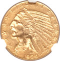Indian Half Eagles, 1929 $5 AU58 NGC....