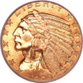 Indian Half Eagles, 1909 $5 MS65+ PCGS. CAC....