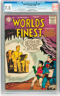 World's Finest Comics #81 (DC, 1956) CGC VF- 7.5 Off-white to white pages