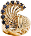 Estate Jewelry:Rings, Sapphire, Gold Ring. ...