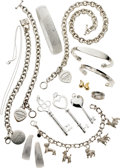 Estate Jewelry:Lots, Diamond, Gold, Sterling Silver Jewelry, Tiffany & Co.. ... (Total: 11 Items)